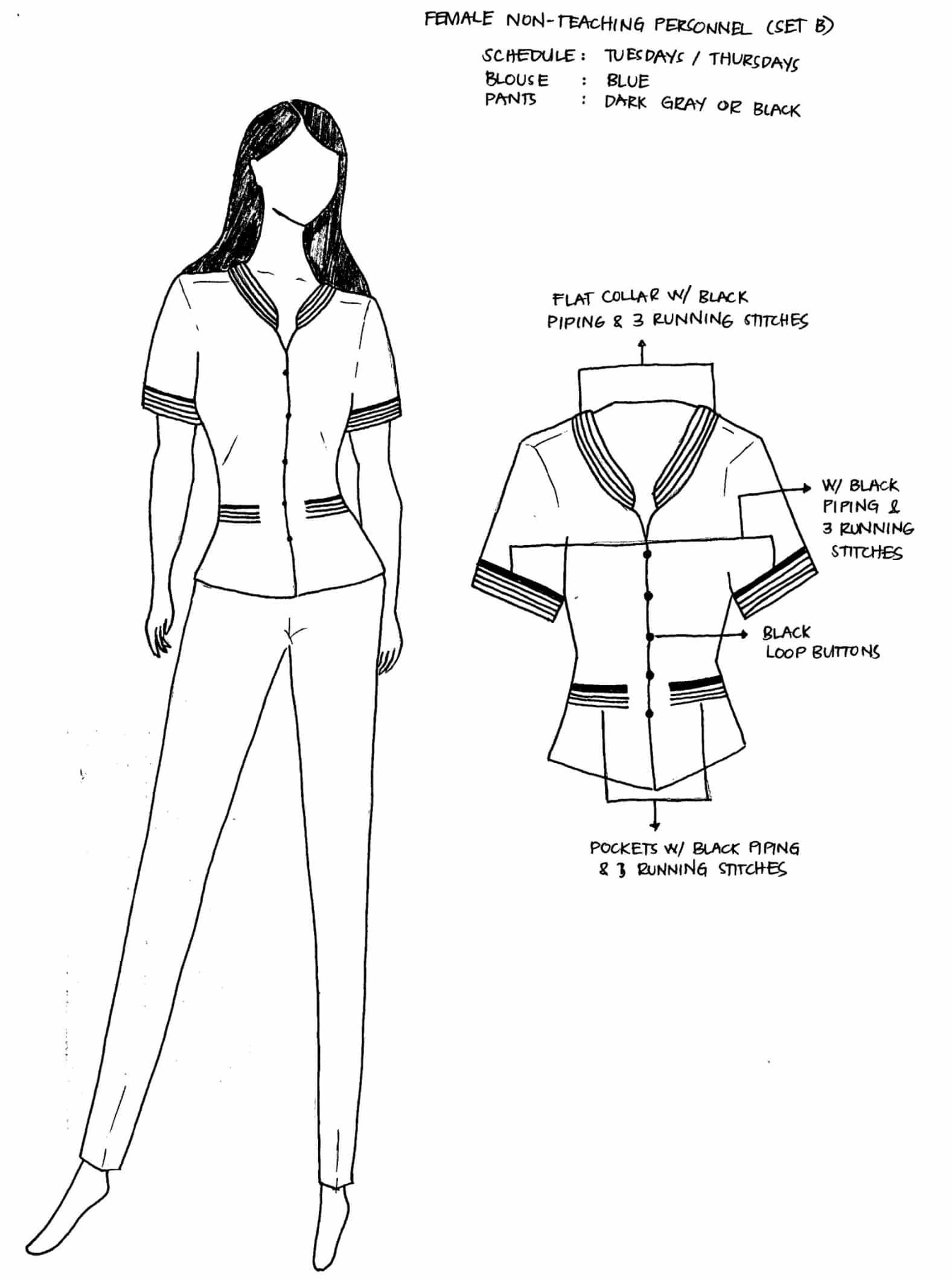 DepEd National Uniforms Female Non-Teaching Personnel (SET B)