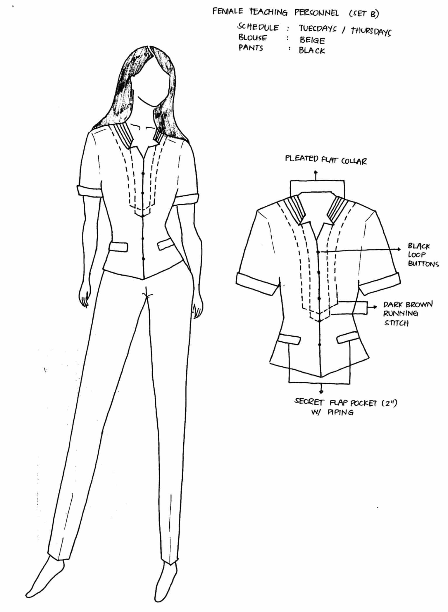 DepEd National Uniforms Female Teaching Personnel Set B