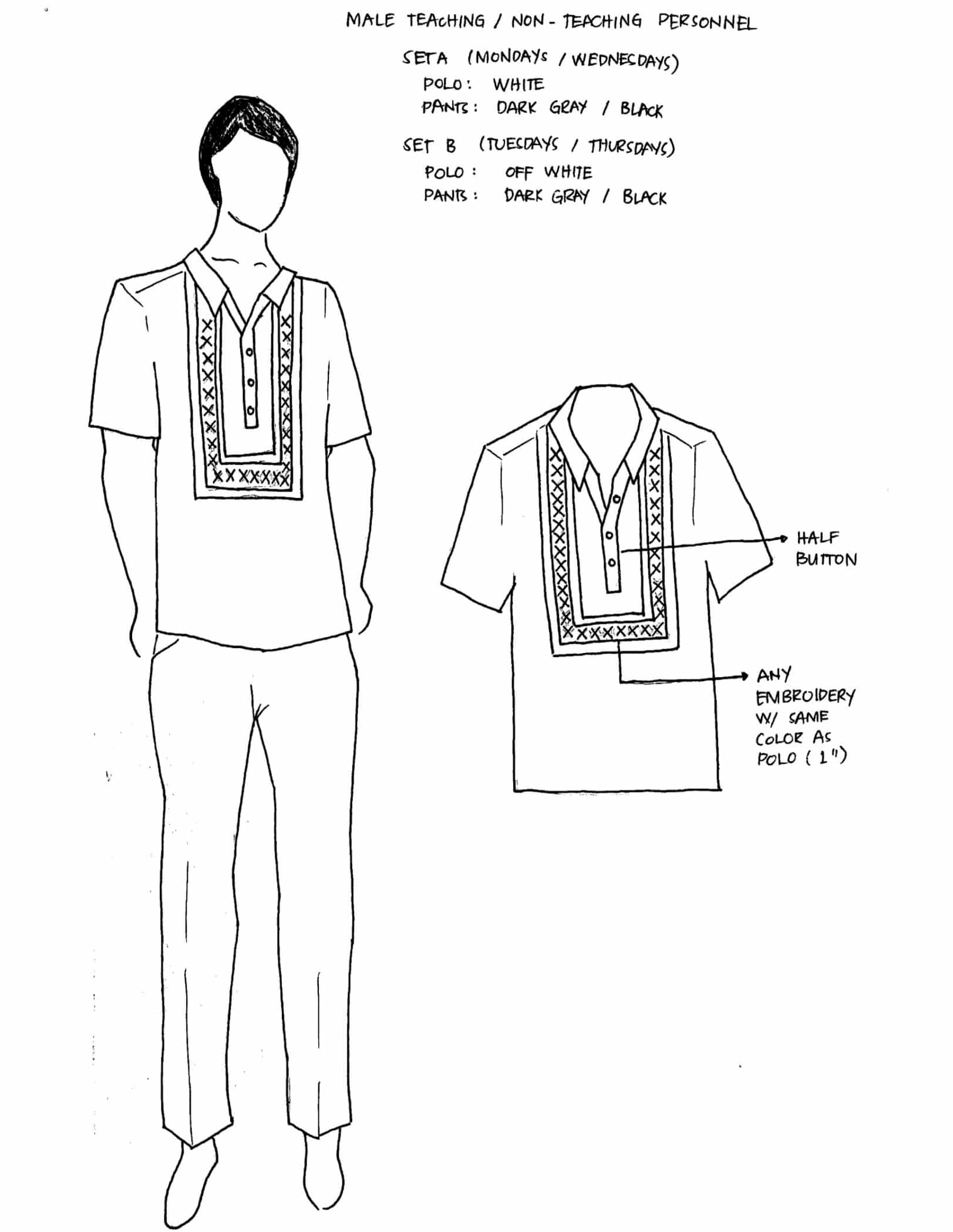 DepEd National Uniforms Male Teaching Non-Teaching Personnel