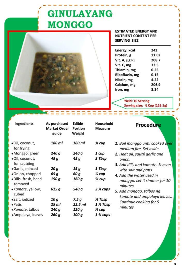 Masustansyang Pagkain Ginulayang Monggo Recipe