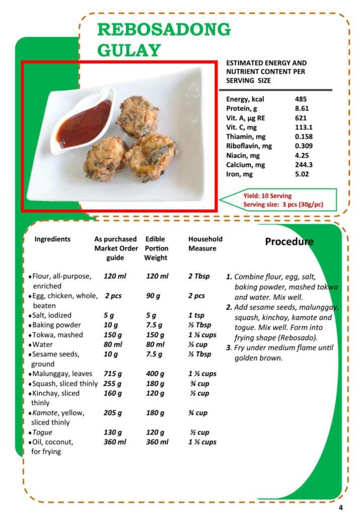 Masustansyang Pagkain Rebosadong Gulay Recipe
