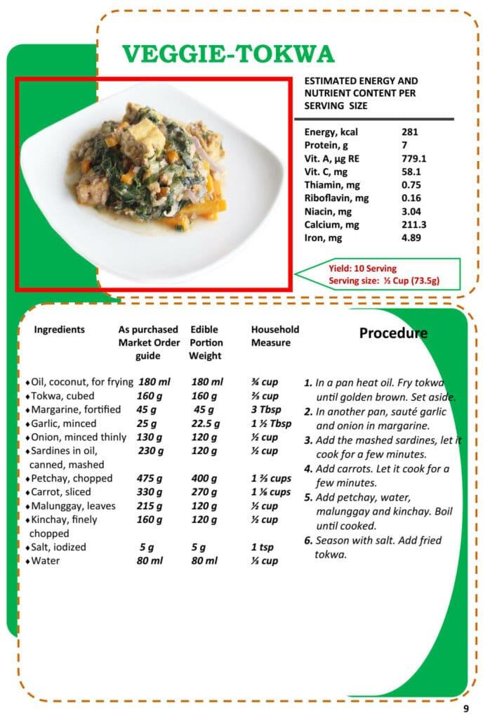 Masustansyang Pagkain Veggie Tokwa Recipe