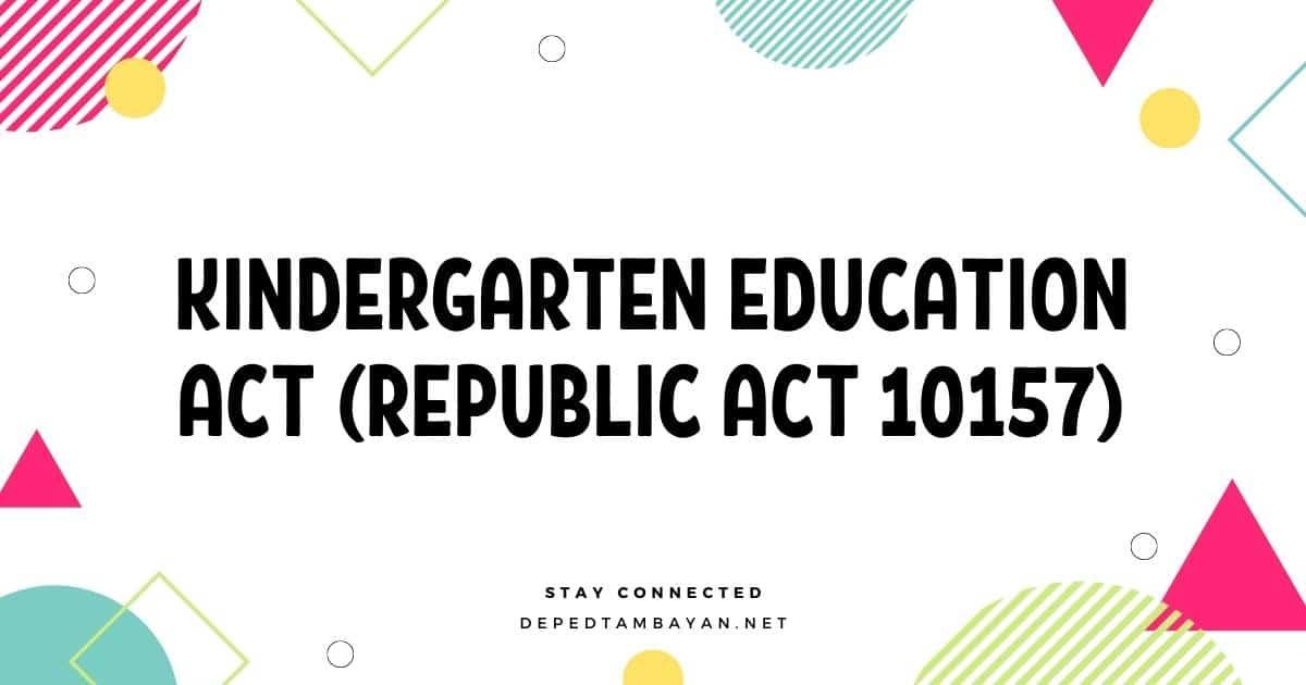 Kindergarten Education Act (Republic Act 10157)